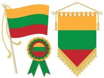 flags lithuania Royaltyfri Fotografi