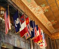flags louisiana över Arkivfoto