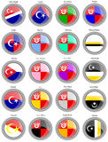Flags of the Malaysian districts. Royalty Free Stock Image