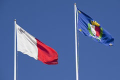 Flags of Malta Stock Photo