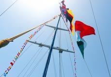 Flags on mast Stock Photos