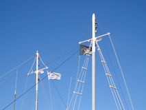 Flags on the masts Stock Photos