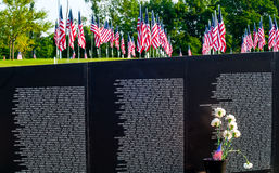 Flags and memorial Royalty Free Stock Images