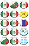 Flags of the Mexico Stock Images