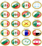 Flags of the Mexico Royalty Free Stock Photos