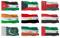 Flags of Middle East. Royalty Free Stock Images