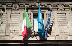 Flags in Milan Royalty Free Stock Photos