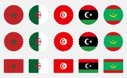 Flags of the Moroccan Union royalty free stock photos