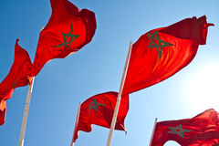 Flags of Morocco Royalty Free Stock Photography