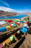 Flags on the mountain. In Tibet, China Stock Photos