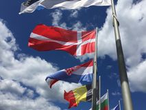 flags national Royaltyfri Foto