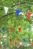 National Dutch flags for Kingsday (Koningsdag) celebrations, Netherlands Royalty Free Stock Photo