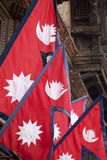 Flags of Nepal Royalty Free Stock Image