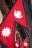 Flags of Nepal Stock Photos