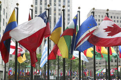 Flags in New York Royalty Free Stock Photo