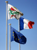 Flags in Nice Royalty Free Stock Photo