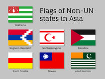 Flags of non-un states Stock Image