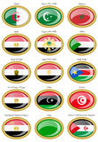 Flags of the North Africa Royalty Free Stock Photography