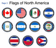 Flags of North America. Flags 3. Royalty Free Stock Images