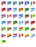 Flags North and South Americas countries vector illustration Royalty Free Stock Photos