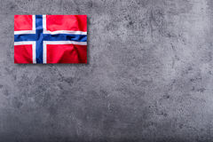 Flags of the Norway on concrete background Stock Images