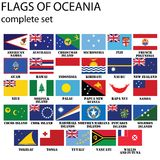 Flags of Oceania. All countries in original colors Royalty Free Stock Photo