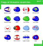 flags oceania Royaltyfria Bilder