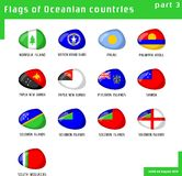 Flags of Oceania Royalty Free Stock Images
