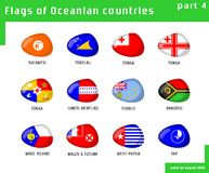 Flags of Oceania Royalty Free Stock Photography