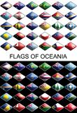 Flags Of Oceania, Countries, Nations, Colours Stock Image
