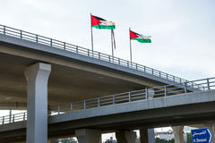 Flags od Jordan Royalty Free Stock Image
