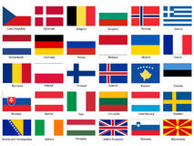 Free Flags Of Europe Vector Set Royalty Free Stock Photography - 37631807