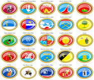 Flags Of The Russian Cities (Central Federal District). Stock Image
