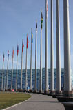 Flags in olympic park in Sochi Stock Photo