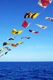 Flags On Board Stock Photography