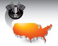flags orange tävlings- s trofé u för symbol Fotografering för Bildbyråer
