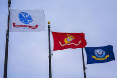Flags of Our Soldiers Royalty Free Stock Images