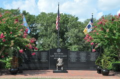 Flags over Delaware Law Enforcement Memorial Stock Photo