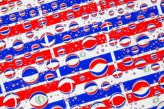 Rain drops full of Paraguay flags Stock Image