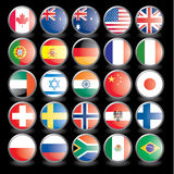 Flags, part 2. Web buttons with flags on black background. Name of the country as the name of the layer. Easy to change.. Vector illustration eps 10 additional Royalty Free Stock Images