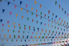 Flags Party. Royalty Free Stock Photography