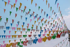 Flags Party. Royalty Free Stock Photo
