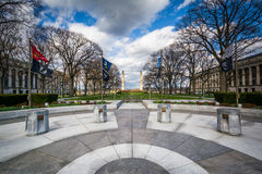 Flags at the Pennsylvania State Capitol Complex, in Harrisburg, Royalty Free Stock Images