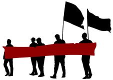 Flags people five Royalty Free Stock Photography