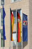 Flags at the Permanent Representation of Saarland in Berlin Stock Photography