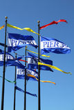 Flags in Pier 39 in San Francisco, California Royalty Free Stock Images