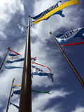 Flags of Pier 39. The flags outside Pier 39 in San Francisco, California Royalty Free Stock Images