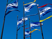 The Flags of Pier 39 Stock Photos