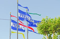 Flags for Pier 39, San Francisco Royalty Free Stock Photos