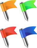 Flags pins.Vector. Royalty Free Stock Photos
